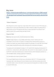 Acc 290 Week 5 Assignment Preparing Comprehensive Bank