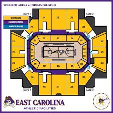 Seating Chart Williams Arena At Minges Coliseum