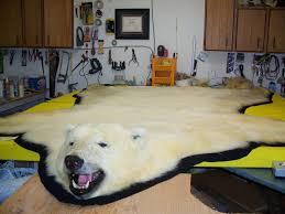 faux polar bear rug with head rugs ideas