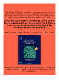 Computer Architecture And Design Patterson Download Computer Organization And Design Third