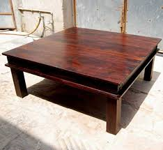 coffee table amusing red brown square rustic wood coffee tables square varnished design captivating