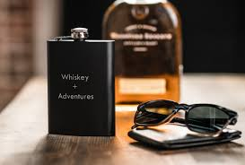 1 personalized whiskey flask