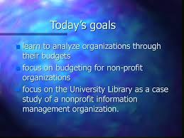 Budgeting For Non Profits Ppt Download