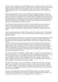 beowulf essay docsity beowulf essay