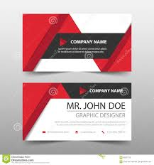 Red Triangle Corporate Business Card Name Card Template Horizontal