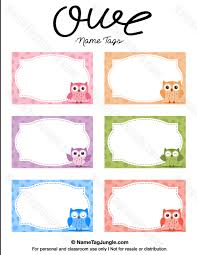 free printable owl name tags the template can also be used for creating items like