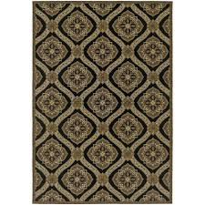 couristan dolce napoli black gold 2 ft x 4 ft indoor outdoor