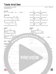 Taste And See Chords Covenant Worship Praisecharts