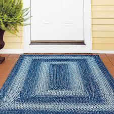 navy denim ultra durable braided rugs
