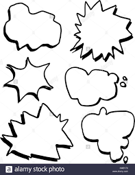 Hand Zeichnen Comic Textfelder Vektor Einrichten Vektor Abbildung