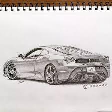 Ferrari F430 Drawing Car Drawings Car Drawing Pencil Car Cartoon