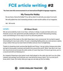 fce exam writing samples my hometown fce english  fce exam writing samples my favourite hobby