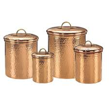 old dutch decor copper hammered canister set 4 piece