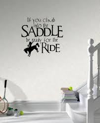 saddle up horse rider western wall decals vinyl stickers home decor living room decoration bedroom wallpaper in wall stickers from home garden on  on horse wall decor stickers with saddle up horse rider western wall decals vinyl stickers home decor