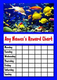 Marine Fish Star Sticker Reward Chart