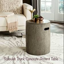 More details safavieh mansel round coffee table with hairpin legs. Safavieh Zen Mushroom Concrete Indoor Outdoor Accent Table Dark Grey For Sale Online Ebay