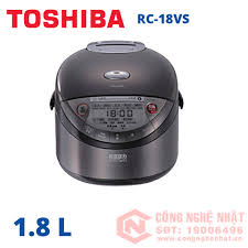 Nồi cơm điện cao tần áp suất Toshiba RC-18VS màu đen 1.8 lít nội địa nhật  2nd mới 96%_Nồi Cơm Cao Tần Áp Suất_Nồi Cơm Đã Qua Sử Dụng - Trưng bày_Nồi