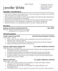 Nursing Student Resume Clinical Experience Megakravmaga Com