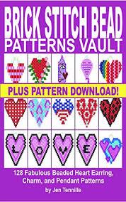 Brick Stitch Patterns Fascinating Brick Stitch Bead Patterns Vault 48 Fabulous Beaded Heart Earring