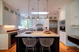 kitchen island pendant lighting table bar stools clear glass window white island under table bar stools