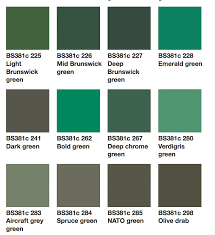 Green Shade Chart Skillful Green Paint Colours Chart 2019