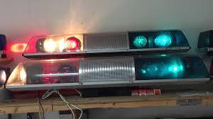 Signal Stat Light Bar 1970s 80s Signal Stat Dual Comm Lights Sirens Emergency