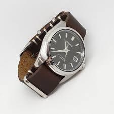 urban brown vintage leather nato strap seiko sarb033