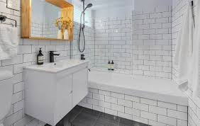 bathroom gray subway tile. Kitchen White Subway Tiles Grey Grout Astonishing Bathroom Flooring Tile Black Dark Gray N