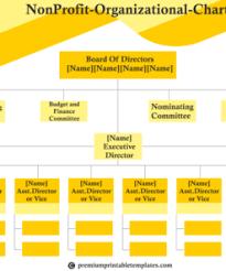 Non Profit Organisation Chart Premium Printable Templates
