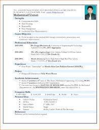 Sample Resume For Mechanical Engineer Experienced Pdf Bongdaao