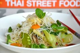 stir fried rice noodles with vegetables