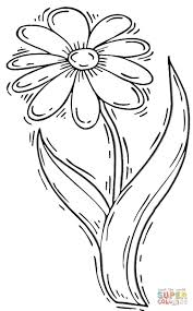 Daisy Coloring Page Daisy Flower Coloring Page Free Printable ...