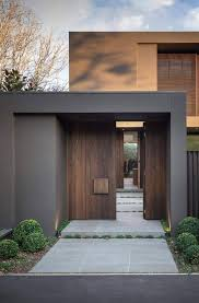 Front Door Garden Design Interesting Architecture Beast House Colors Amazing Modern Facade In Brown