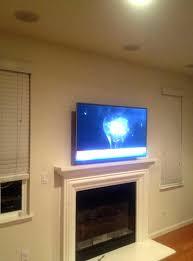 flat panel gas fireplace g screen above