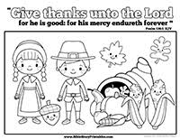 Thanksgiving Bible Coloring Pages Christian Preschool Printables