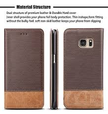 for galaxy s7 edge case wenbelle blazers series stand feature double layer shock absorbing premium soft pu color matching leather wallet cover flip cases
