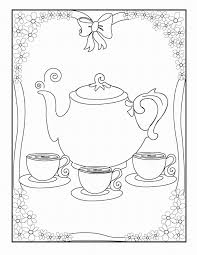 Tea Party Coloring Pages To Print Free Coloring Books