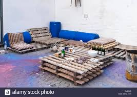 palettes furniture. Braunschweig, Brunswick, Germany - Outdoor Furniture Made From Reclaimed, Recycled Materials, Wooden Palettes And Old Drums