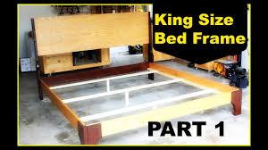 diy king size bed frame part 1