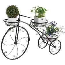 3 tier bicycle bike plant stand display