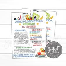 Editable Flyer Template Editable Pto Newsletter Pto Pta Open House Flyer Template P T O Meeting Daycare Back To School Invite Instant Access Edit Now