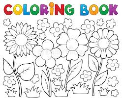 coloring book with flower theme stock vector ilration of flowers graphic 29316166
