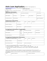 Loan Application Form Auto Loan Application Form Sample And Template Duyudu