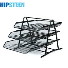 wire paper rack wonderful netting three layers documents storage office study desktop books sundries newspaper for k41 for
