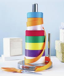 Real simple office supplies Shoplet Spools Of Colored Ribbon Stored On Paper Towel Stand Is Cool Holiday Storage Makespace Ribbonstoragehackpapertowelstandrealsimple Elbow Room