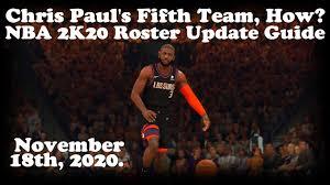 NBA 2K20 Roster Update Guide, Chris ...