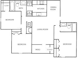 Small Three Bedroom House Floor Plan For 3 Bedroom Flat