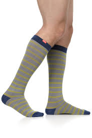 Mens Stripe Cotton Knee Highs Accucare Canada