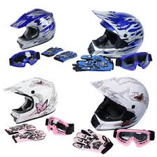 Details About Dot Full Face Atv Dirt Bike Motocross Helmet W Goggles Gloves Adult Youth