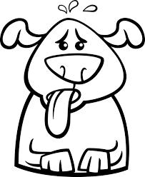 Zweten Hond Cartoon Kleurplaat Vector Premium Download